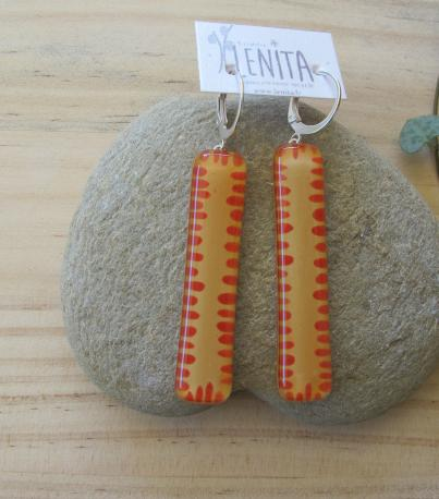 poznan-boucles-d-oreilles-rectangle-long-jaune-curry-rouge-terracota