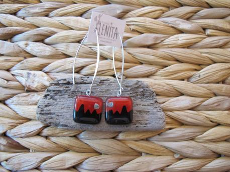kusma-boucles-d-oreilles-carree-fermoir-long-rouge-orange-noir
