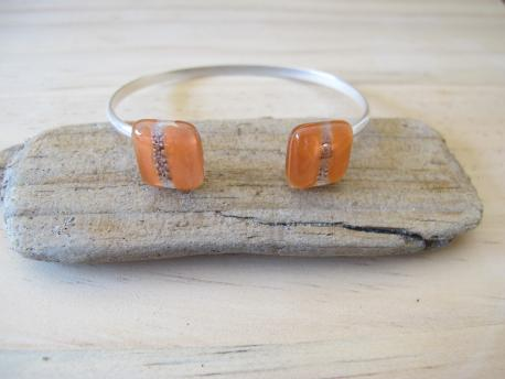 kaspali-bracelet-double-jonc-orange-pastel-rose-bulle